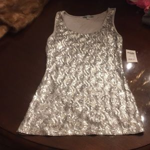 Charlotte Russe sequin tank